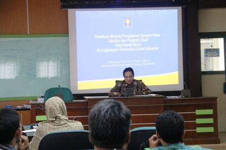 Kepala Divisi Fakultas Ikuti Pelatihan Pengukuran Sasaran Mutu