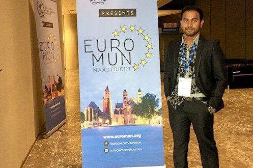 UII Student Won Best Diplomacy Award at EuroMUN 2018