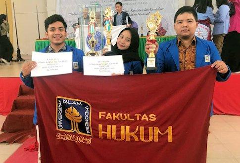 Mahasiswa UII Borong Juara di Riau Law Fair 2019