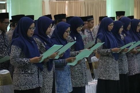 Kepala Divisi dan Kepala Urusan UII Periode 2019-2023 Dilantik