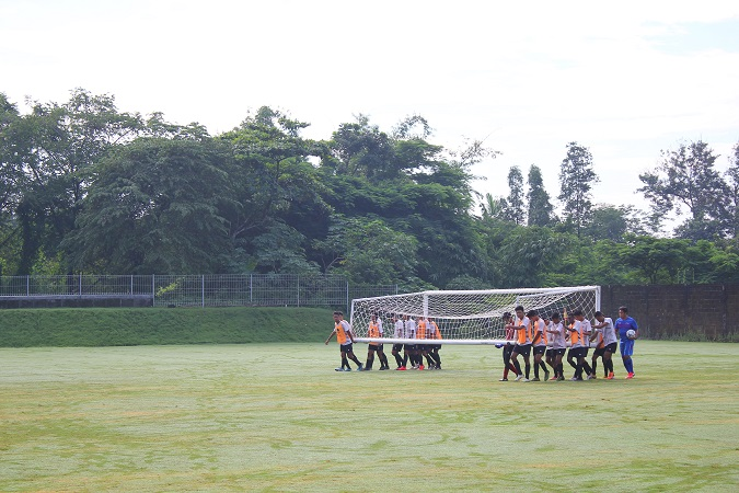 Garuda Muda Pemusatan Latihan di UII Training Ground
